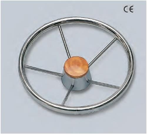 Volante in acciaio inox con impugnatura ovale [MAVIMARE]