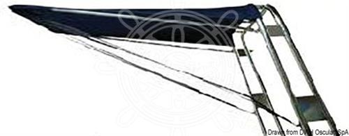 Tendalino telescopico per Roll bar gommone 160/170 cm blu navy [OSCULATI]