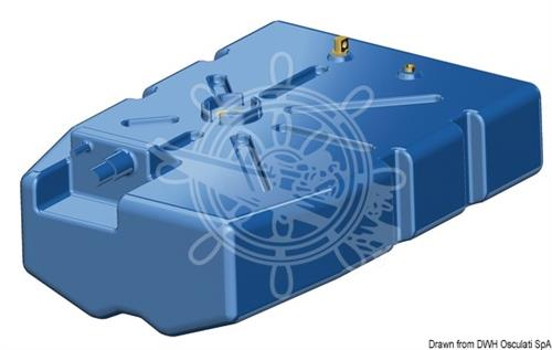 Serbatoio carburante/benzina in polietilene reticolato da 135 lt [OSCULATI]