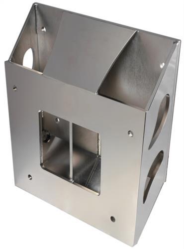 Bracket scatolato in acciaio inox