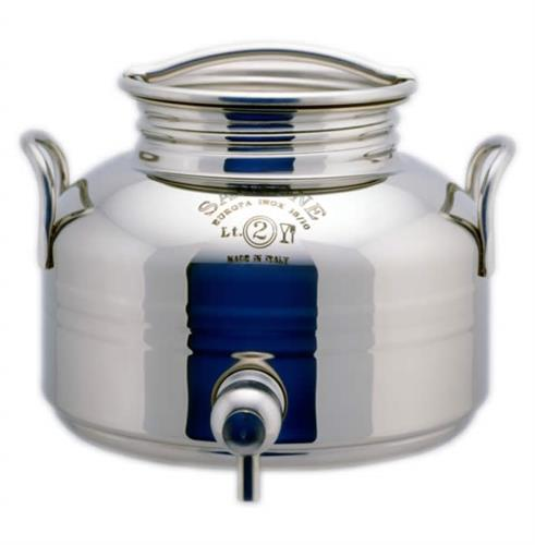 Contenitore olio e vino inox saldato da lt. 2 Modello Europa [Sansone]