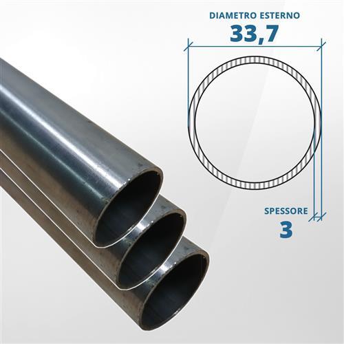 Tubo diametro 33.7 spessore 3 mm (opaco) - AISI 304