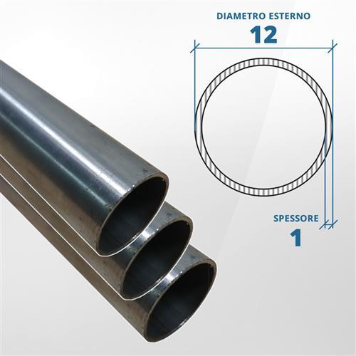 Tubo diametro 12 spessore 1 mm (opaco) - AISI 316L
