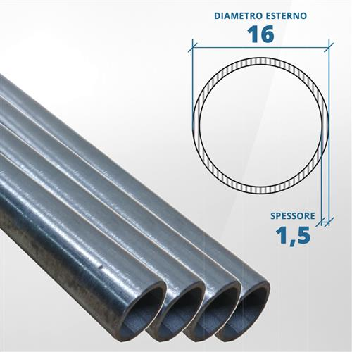 Tubo diametro 16 spessore 1,5 mm
