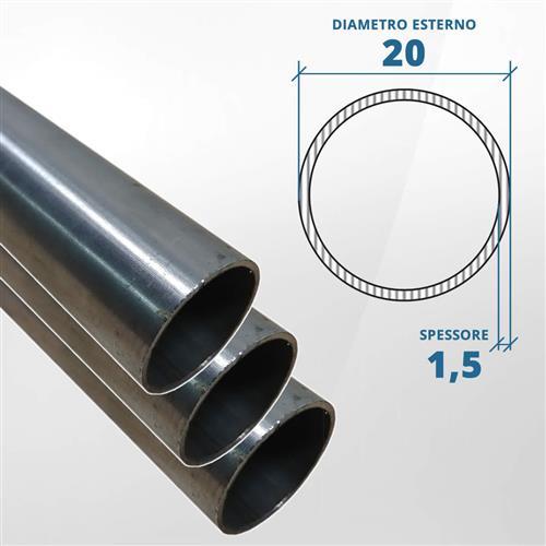 Tubo diametro 20 spessore 1,5 mm (opaco) - AISI 316L