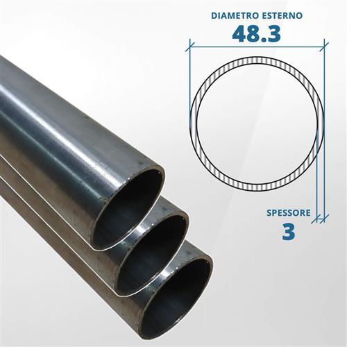 Tubo diametro 48.30 spessore 3 mm (opaco) - AISI 304