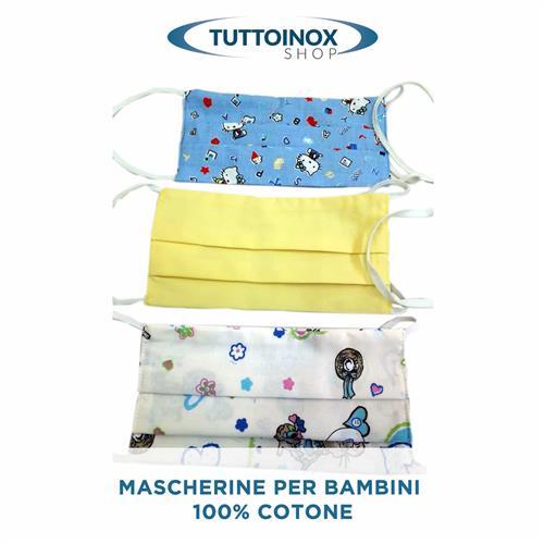 Mascherina per bambini in cotone