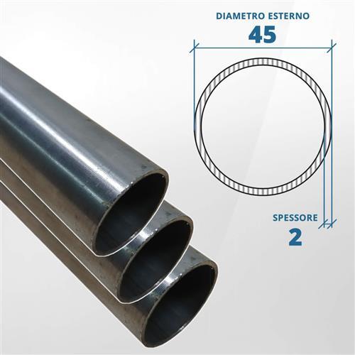 Tubo diametro 45 spessore 2 mm (opaco) - AISI 316L
