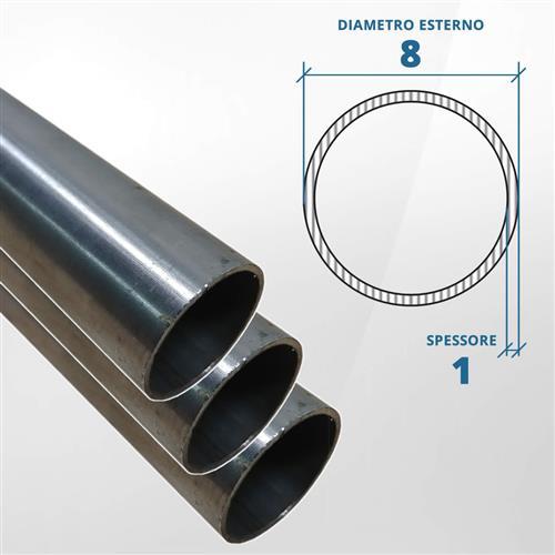 Tubo diametro 8 spessore 1 mm (opaco) - AISI 316L