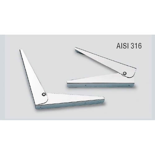 Cerniere in acciaio inox lucide reclinabili a 90° 30x30 [MAVIMARE]